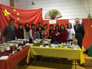 Chinese moms volunteer at the 2015 Syosset HS Multicultural Teacher Appreciation Lunch